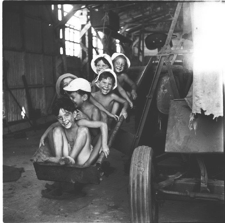 ילדי קיבוץ משמר השרון 1953
