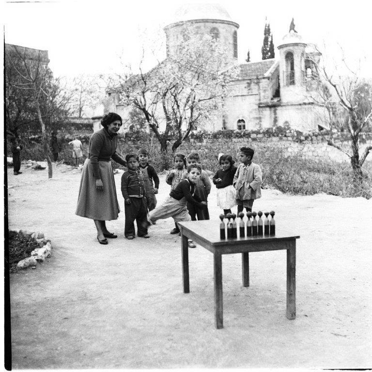 משחקי ילדים בכפר כנא 1955