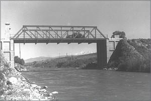 """גשר בנות יעקב, 1937. צלם: זולטן קלוגר, לע""""מ"""