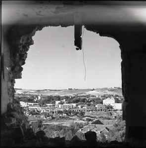 מבט ממנזר נוטרדם על ירושלים המזרחית (הירדנית), 1950